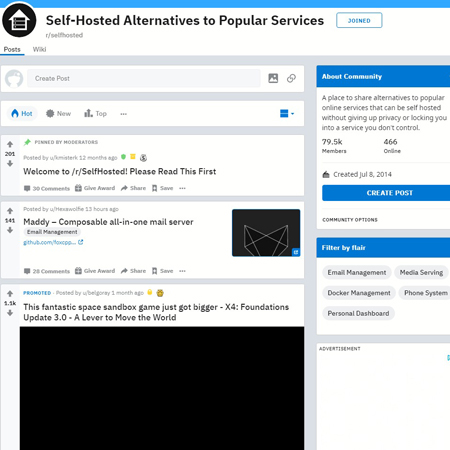 r/Self-Hosted - reddit.comrselfhosted