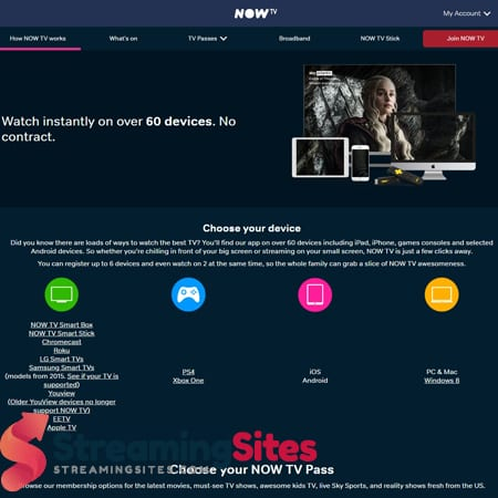 NOW TV - nowtv.comdevices